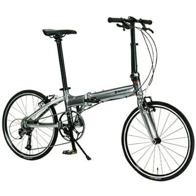 ルノー 20型 折りたたみ自転車 PLATINUM MACH8(Metallic Silver/9段変速)11298-09