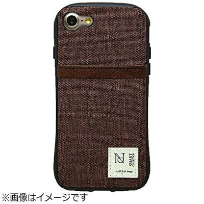 ナチュラルデザイン iPhone 7用 プロテクターポケットケース CAMPANELLA ブラウン IP7CAMP03