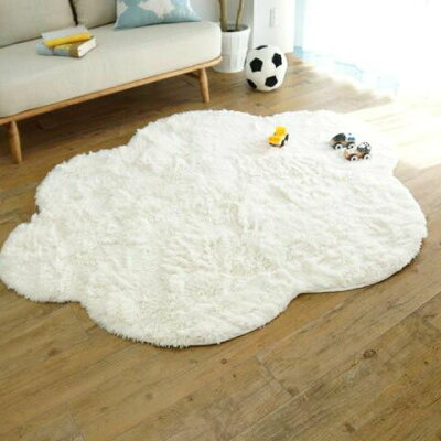 洗える雲ラグふわふわ雲型のおしゃれなシャギーラグ mokumokuモクモク
