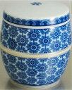 (小さい骨壷)有田焼・藍更紗(陶器製の骨壷)