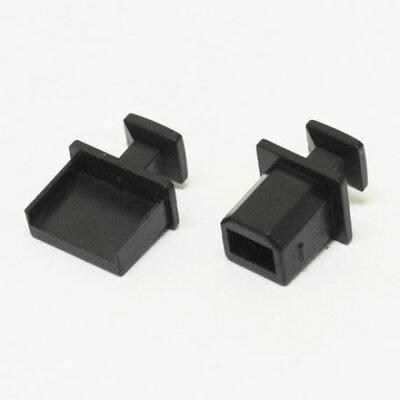 AinexDC-004A コネクタカバー/取手付/USBメス用 DC004A コネクタカバー取手付 USBメス用 ブラック
