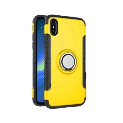 強化ガラスフィルム付き iPhone リング付き衝撃吸収タフケース