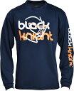 ブラックナイト black knight T-7222 バドミントン ウェアメンズ/ユニ BKTシャツbkロング72AW ネイビー