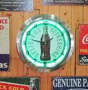 ネオン時計Coca Cola コカコーラ アトランタ コーラネオン USA アメリカ アメ雑 海外 海外インテリア グリーン 飲料