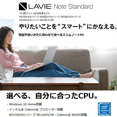 NEC LaVie Note Standard PC-NS150KAR CELERON 4,096.0MB 1,000.0GB 1,000.0GB