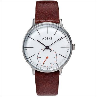 ADEXE アデクス 1870A-03 ユニセックス 腕時計 PETITE プチ 33mm シルバー ホワイト ダークブラウン