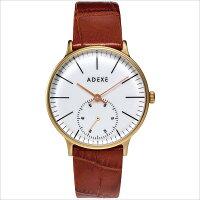 ADEXE アデクス 1870A-04 ユニセックス 腕時計 PETITE プチ 33mm ゴールド ホワイト ライトブラウン