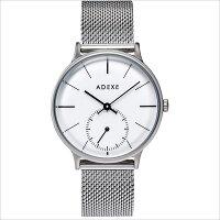 ADEXE アデクス 1870B-01 ユニセックス 腕時計 PETITE プチ 33mm シルバー ホワイト メッシュ