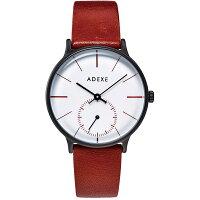 ADEXE アデクス 1870B-03 ユニセックス 腕時計 PETITE プチ 33mm ブラック ホワイト ライトブラウン