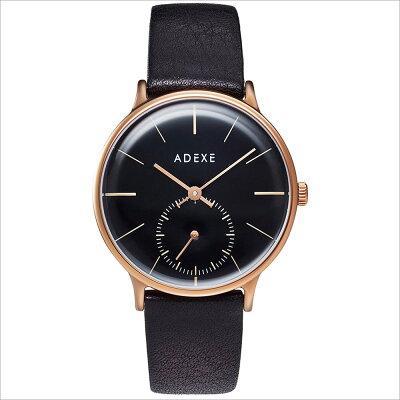 ADEXE アデクス 1870B-06 ユニセックス 腕時計 PETITE プチ 33mm ローズゴールド ブラック