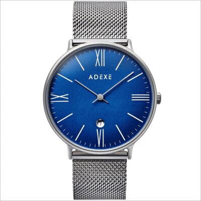 ADEXE アデクス 1890B-05 ユニセックス 腕時計 GRANDE グランデ 41mm シルバー ブルー