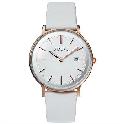 ADEXE 2043A-04 ユニセックス 腕時計 PETITE プチ 33mm ローズゴールド シルバー ホワイト