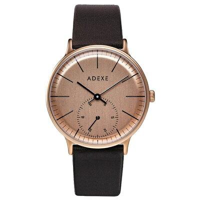 ADEXE アデクス 1870A-T01 ユニセックス 腕時計 PETITE プチ 33mm ローズゴールド ブラウン