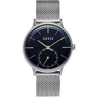 ADEXE アデクス 1870B-T02 ユニセックス 腕時計 PETITE プチ 33mm シルバー ダークブルー メッシュ