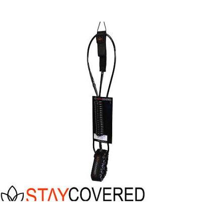 STAY COVERED コイルリーシュ SUP用 Hybrid 10' Calf Knee ブラック