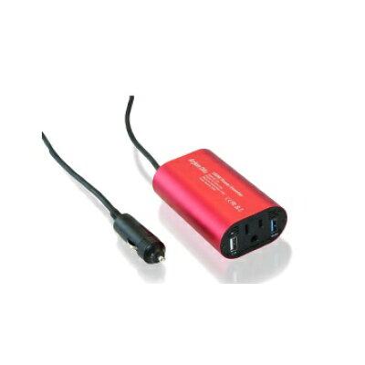 進化版 Quick Charge 3.0 インバーター 12V 100V シガーソケット コンセント QC3.0 変換 DC AC カーインバーター 150W