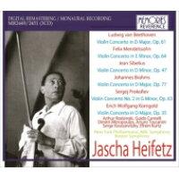 ハイフェッツ ヴァイオリン協奏曲ライヴ録音集~ベートーヴェン、メンデルスゾーン、シベリウス、ブラームス、プロコフィエフ、コルンゴルト 3CD 輸入盤