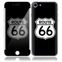 iPhone 7 スキンシール 前面 背面 保護 シール SN25/Route 66 I7-SN25