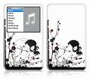 DecalSkin iPod classic スキンシール TM21/スカル&フラワー