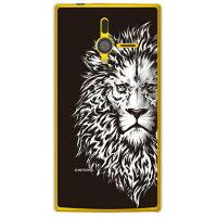 (スマホケース)METEOR GRAPHICSシリーズ Lion (クリア)/ for PANTONE 6 200SH/SoftBank