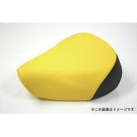 Grondement グロンドマン (レッツ2用)レッツII外タンク(CA1KA) 国産シートカバー 被せ(エンボスイエロー/黄色パイピング)