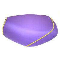2輪 グロンドマン 国産シートカバー パープル/黄色パイピング(被せ) 品番:GR17SC310P100