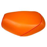 2輪 グロンドマン 国産シートカバー オレンジ/赤パイピング(張替) 品番:GH53HC140P40
