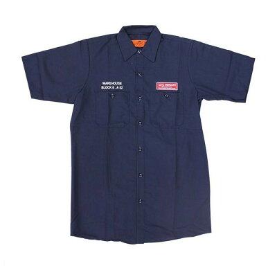 MEURY マーキュリー 半袖ワークシャツ M ネイビー ME045096