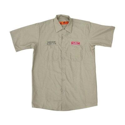 MEURY マーキュリー半袖ワークシャツ M カーキ ME045126