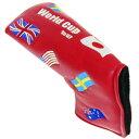 クリオコーポレーション ヘッドカバー ワールドカップツアー パターカバー ピンタイプ レッド