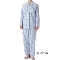 フレンディ 介護パジャマ婦人パジャマセットサックスM AL1877MS