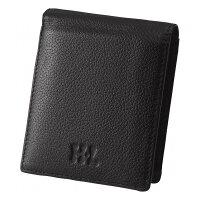 アッシュエル アッシュエル メンズパスケース付二つ折財布 ブラック S-HLM100210BK