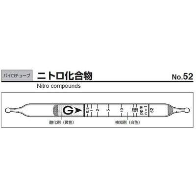 ガステック ガス検知管 52 パイロテックチューブ1箱9-805-10