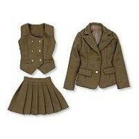 27cm スクールユニフォーム ブレザー制服set ベージュ ドール用衣装 アゾン