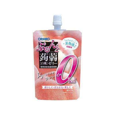 オリヒロ ぷるんと蒟蒻ゼリー ST カロリーゼロ 白桃 130g