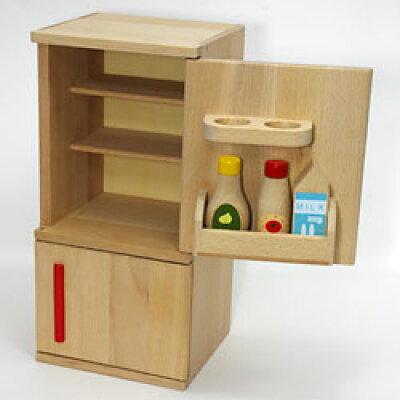 木のおもちゃ ミニれいぞうこ_冷蔵庫 木製おままごとキッチン