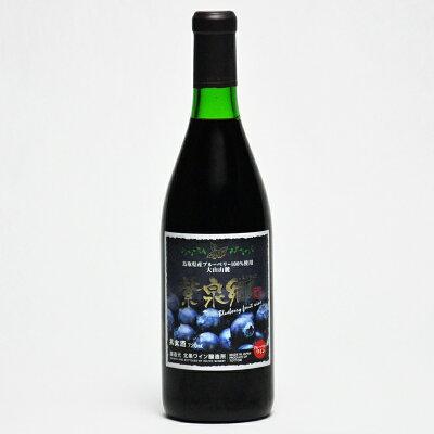 アグリネット琴浦 ブルーベリーワイン 赤 720ml