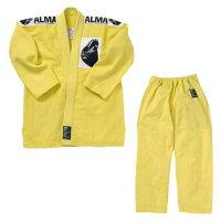 ALMA アルマ 国産柔術着 A4 黄 上下セット JU1-A4-YL