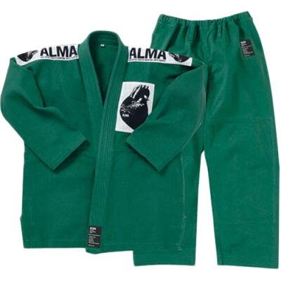 ALMA アルマ 国産柔術着 A2 緑 JU1-A2-GR