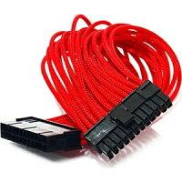 GELID solutions ATXメイン 24PIN 延長ケーブル CA-24P-RD(UVレッド)