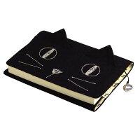 ネコ耳がかわいい ブックカバー 文庫本対応 ブラック J360_BK