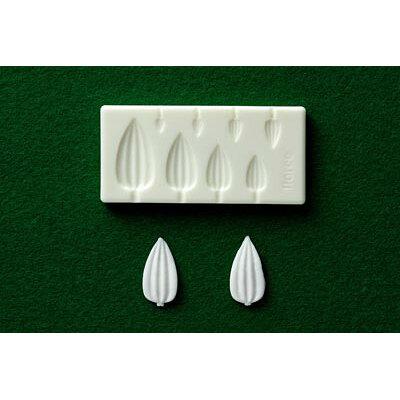 葉型 樹脂粘土用型: ミニ葉型抜き(マルチタイプスジ脈D) 2323