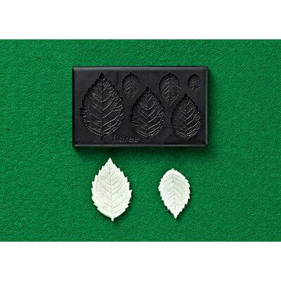 樹脂粘土用型: Lovely flower バラ葉型(リアル) 2310