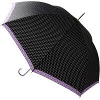 雨 傘 ジャンプ ヒョウ柄 レオパード パープル 58cm 5049
