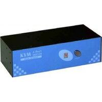 ワイエス・ソリューションズ UKV-DM04SK 4ポート デュアルモニター PS/ 2 KVM-キット