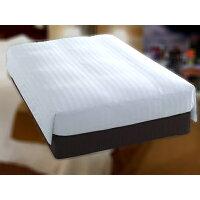 ホテルスタイル ホテル羽毛ベッドカバー(デュベタイプ) S(シングル)サイズ セット 白ストライプ dube-S