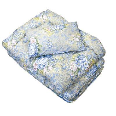 敷布団 花柄ブルー