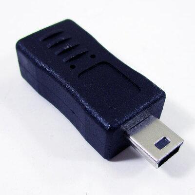 変換名人 変換プラグ microUSB(メス)→miniUSB(オス) USBMCB-M5A(1セット)