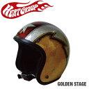 ヒートグループ CP-15 ジェットヘルメット GLITTER JET GoldState フリー