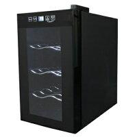 ノンフロン電子式ワインセラー 8本収納 ワイン庫 スリムサイズ 黒 ブラック SR- 08K